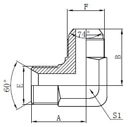 Disegni adattatori idraulici BSP
