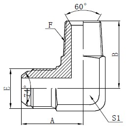 Disegno dei connettori dell'adattatore maschio BSPT