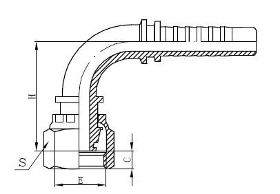 Disegno ad un pezzo di tubo flessibile