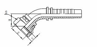 Assemblaggio tubo flessibile idraulico R1AT