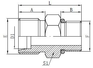 Disegno dei connettori del tubo flessibile degli O-ring SAE