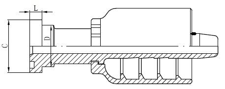 Disegno del connettore del tubo SS