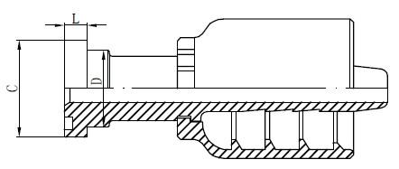 Disegno di raccordi idraulici in acciaio inossidabile