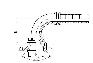 Assemblaggio di tubi intrecciati a due fili